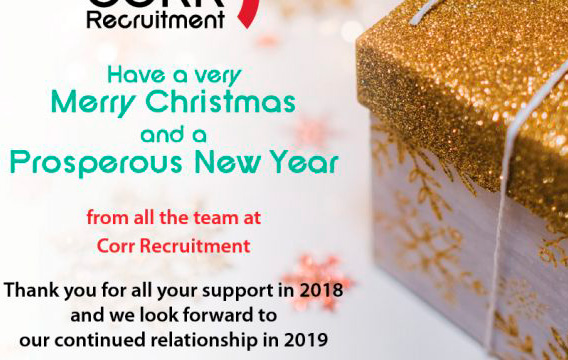 Happy Christmas to Everyone Associated with Corr Recruitment